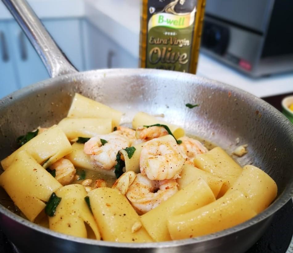 Fortunato Mazzone – Paccheri with Praws and Lemon