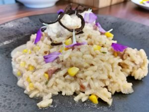 Pellie Grobler – Sweet Corn and Bacon Risotto