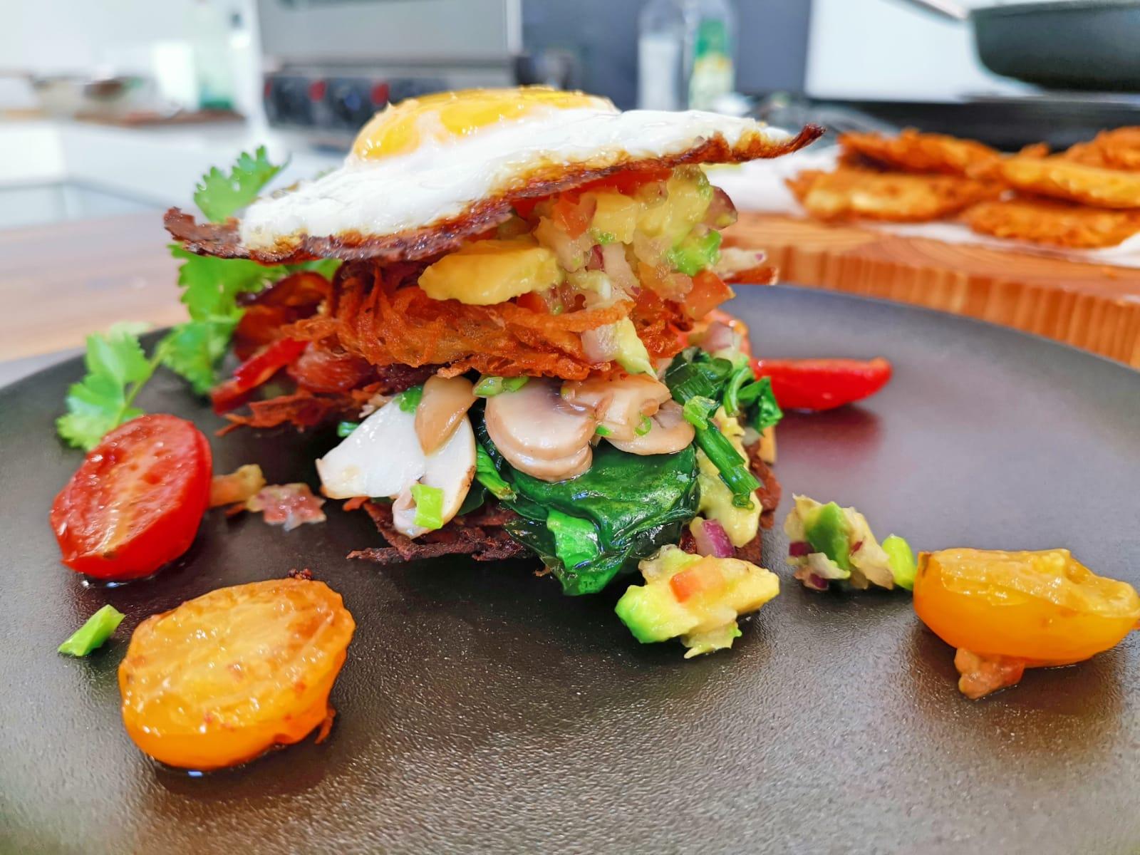 Karen Blanché – Potato Rosti Breakfast stack